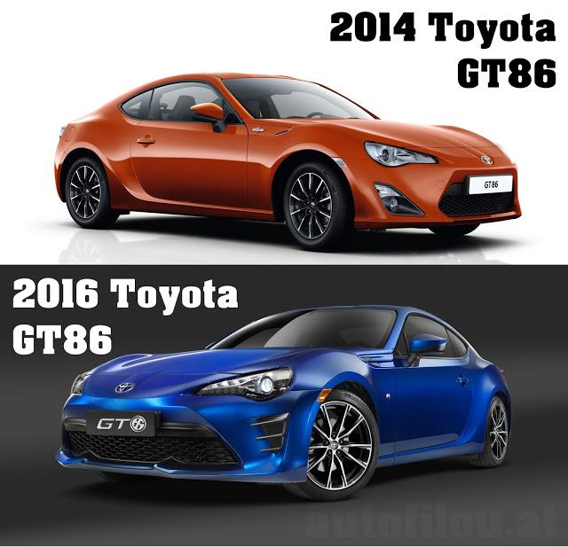 2014-vs-2016-toyota-gt86-vergleich-compare-versus-front-vorne-orange-blue-blau-autofilou