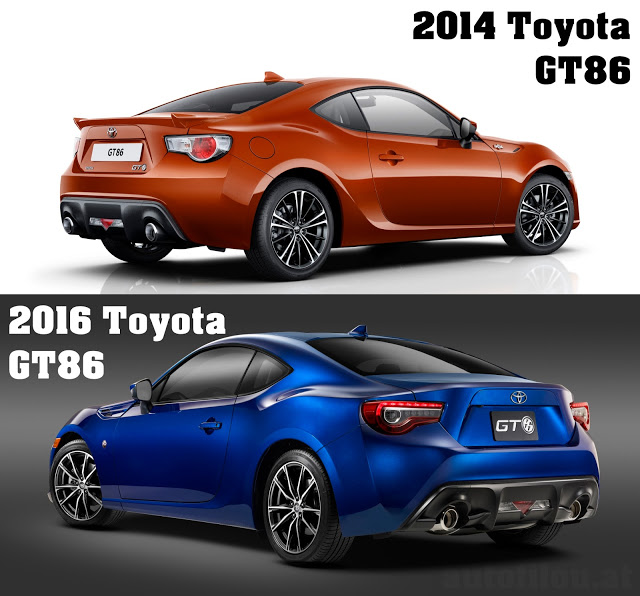 2014-vs-2016-toyota-gt86-vergleich-compare-versus-heck-rear-back-tail-orange-blue-blau-autofilou